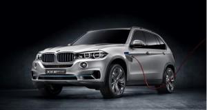 BMW présente un X5 hybride branchable à Francfort