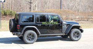 Le Jeep Wrangler PHEV aperçu sans camouflage